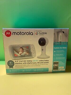 "Motorola - Video Baby Monitor with Wi-Fi camera and 5"" Screen - Whate"