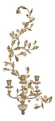 Antique French Parisian Carved Gilt Wood & Metal Candelabra (Early 20th C.)