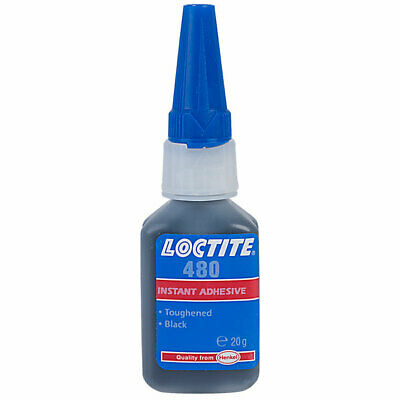 Loctite 20g 480 Instant Dry Adhesive Low Viscosity Black Rubber Strength