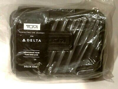 TUMI Mini Delta One Traveling Hard Case Amenity Kit Black **NEW**