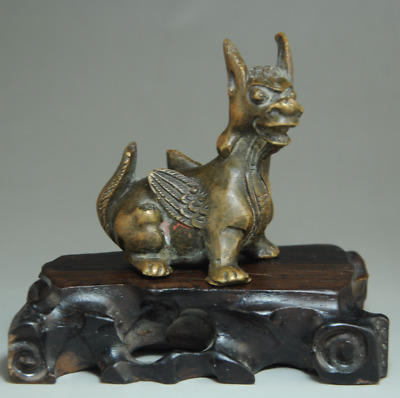 Collectible Chinese Antique Old Solid Copper Handwork Poisonous Scorpion Statue