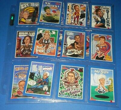 1996 Uncle Toby's Blue Footy Oddbodz Complete Set of 16 Cards