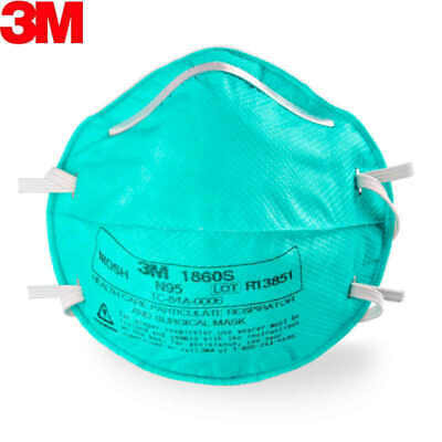 Fda Approved 3M 1860S N95 Particulate Surgical Respirator - Pack Of 5 Face Masks