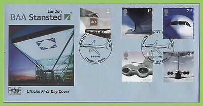 G.B. 2002 Airliners set on Havering (blue) First Day Cover, Stanstead Essex