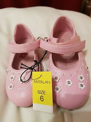 NEW Pink Baby Shoes Velcro Fastening. Size 6