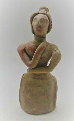 Superb Ancient Near Eastern Terracotta Worshipper Figurine 300Bce
