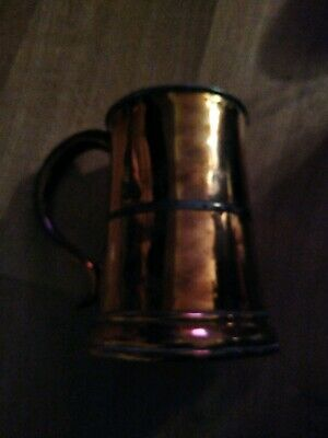 Antique Arts and Crafts Copper Tankard