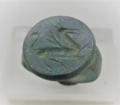 Detector Finds Ancient Roman Bronze Seal Ring With Beast On Bezel