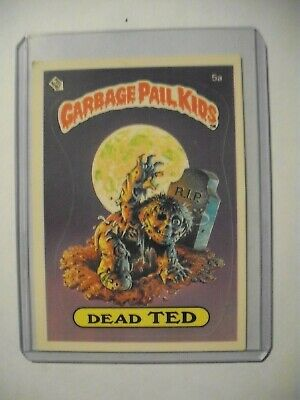 Garbage Pail Kids Original Series 1 5a Dead Ted, award on matte back 1985 TOPPS