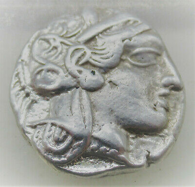 Ancient Greek Ar Silver Tetradrachm Coin Athens Attica Owl 500Bce