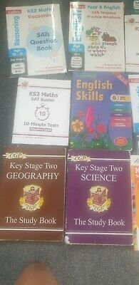 16 different KS2 SAT books covering English, Maths, science, Geography * History