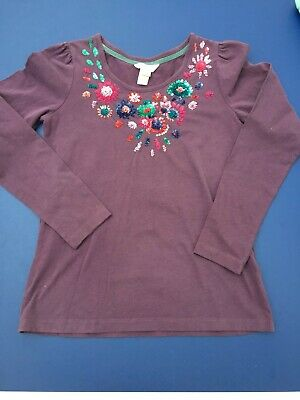 Girls Monsoon purple sequined long sleeved T-shirt size11-12 years