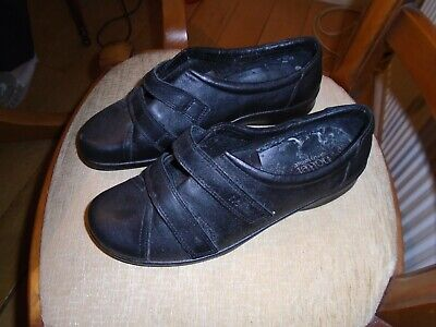 Black leather Hotter comfort Concept Shoes BN Size 7.5 eee