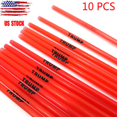 10PCS President Donald Trump Reusable Straws - 2020 Make America Great Again