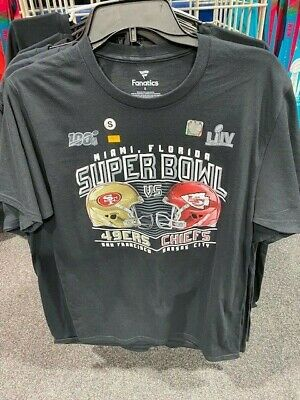 Super Bowl LIV T Shirt New Miami Official Kansas City Chiefs San Francisco 49ers
