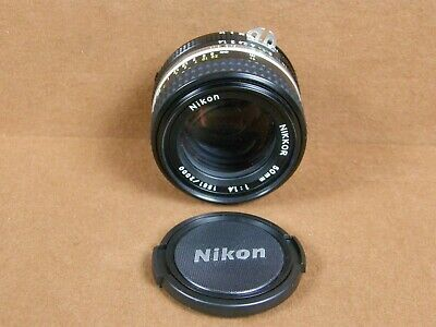 Nikon Nikkor 50mm F/1.4 Lens For Dragon Millennium Edition FM2 35mm Film Camera