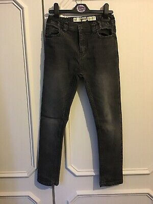 Boys Primark Skinny Jeans Black Faded Denim Age 8-9 Years.