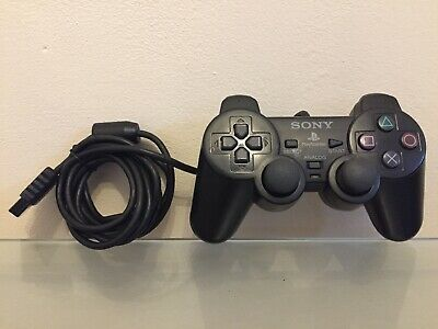 Official Sony Playstation 2 Controller SCPH-10010 Ps2 Black. Tested & Working