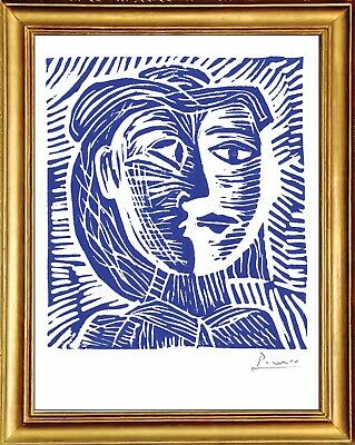 "Pablo Picasso Hand Signed Ltd Edition Print ""Woman in Hat"" w/COA (unframed)"