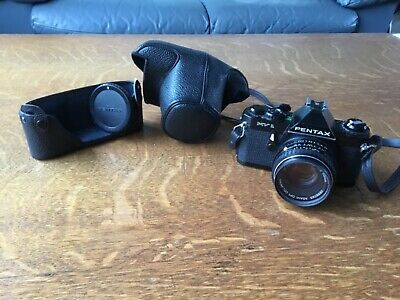 Pentax MV 1 35mm SLR Film Camera.  Lens. Original Case. Strap. Excellent Cond.