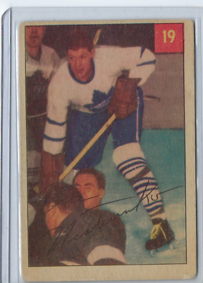 1954-55 hockey card #19 Eric Nesterenko Toronto Maple Leafs