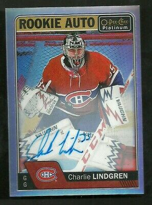 2016-17 OPC O-Pee-Chee Platinum ROOKIE AUTO Charlie Lindgren Montreal Canadiens