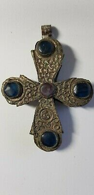 Medieval Silver  Cross Pendant. 10th-12th century AD.