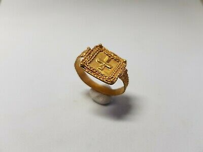 Byzantine Gold Ring with Cross 6th-7th century AD.