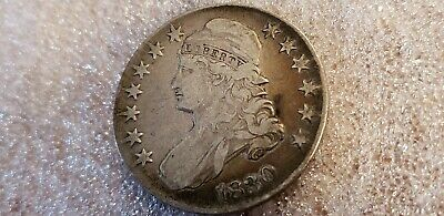 1830 Capped Bust Half Dollar nice f/vf some rim tone orangy brown