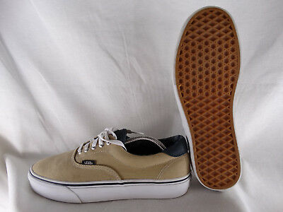 VANS AUTHENTIC CANVAS Leather Low Sneaker beige grau EU 42