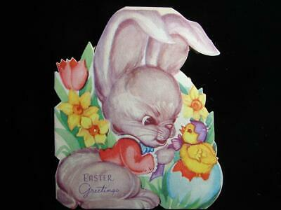 """Vintage """"The Easter Bunny's On The Job!!"""" Easter Greeting Card"""
