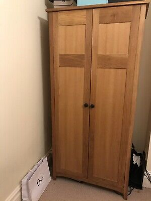 Pair Of Solid Oak Wardrobes