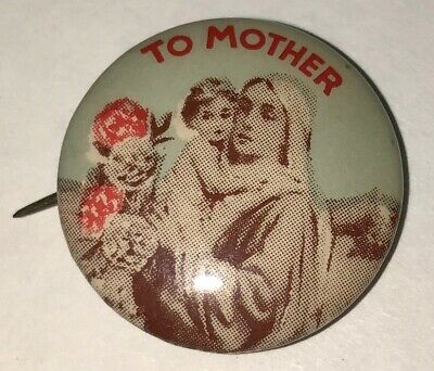 Vintage Mary Mother Baby Jesus Child Catholic Christian Religious Pinback Button