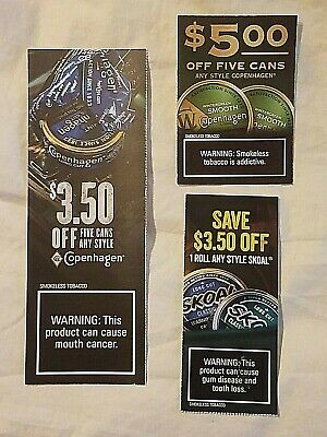 Copenhagen Coupons: $8.50 off AND Skoal $3.50 off a Roll! $12 in Savings!