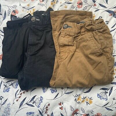 3 Pairs Boys Trousers Chino Style Tracksuit Bottoms Age 13 Next
