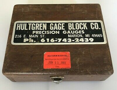 Hultgren 26pc Square Wafer Size Gage Block Set