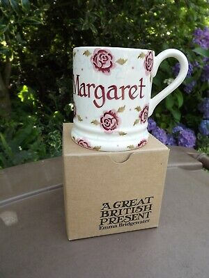 "Emma Bridgewater Half Pint Roses Mug ""Margaret"" Perfect 90th Birthday Present"