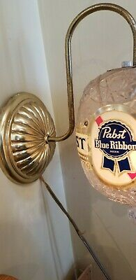 Pabst Vintage Rotating Wall Sconce Light. Very rare