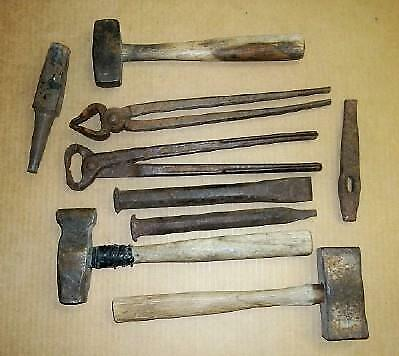 Group of Blacksmith Forge Tools
