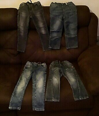 Barely worn 4 pairs boys denim jeans (3 blue 1 black) 3 next! Size 3 years / 3-4