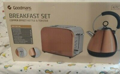 Copper Effect  Kettle And Toaster Set New Unopened