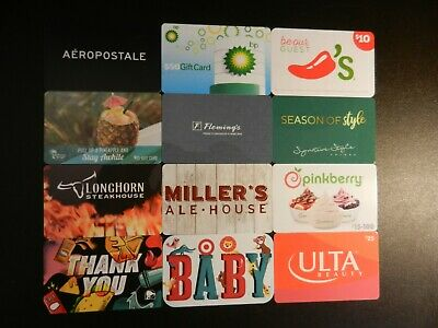 Lot Of Twelve (12) All Different Collectible Only *Gift Cards*
