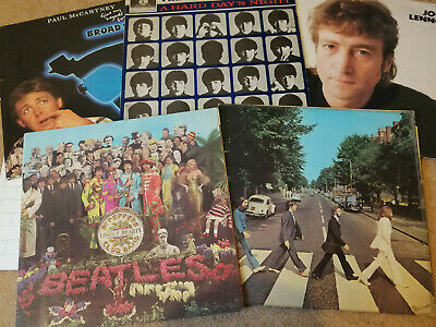 Joblot 5 x The Beatles & related LP records inc Sgt. Peppers, Hard Days Night