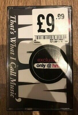 NOW That's What I Call Music 1 - DOUBLE CASSETTE - NEW - NEVER PLAYED - SEALED