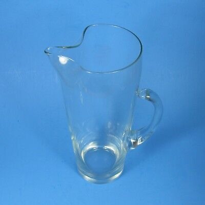 Vintage Clear Glass Martini Cocktail Pitcher Mid Century Modern Cat Tail Handle