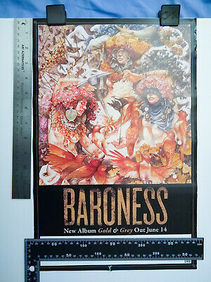 BARONESS (Heavy Metal) Gold & Grey - 2019 PROMOTIONAL POSTER 11 x 17 Promo