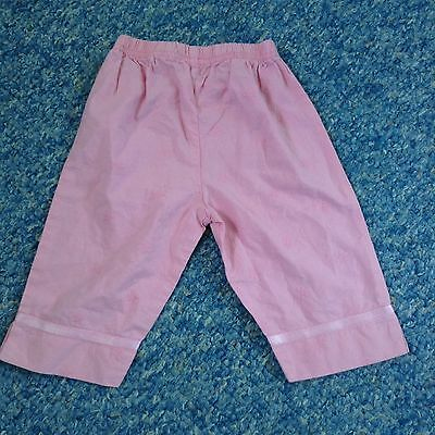 Mothercare Baby girls pink snow embroidered cotton trousers 3-6 Months clothes