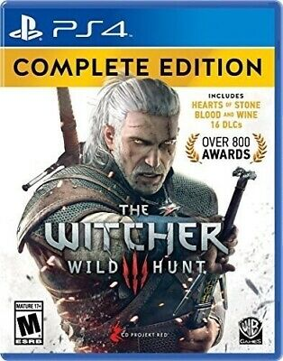 The Witcher 3: Complete Edition PS4 (Sony Playstation 4, 2016)