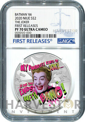 2020 Batman '66 Television Show - The Joker - Ngc Pf70 First Releases W/Ogp