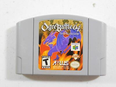 Ogre Battle 64: Person of Lordly Caliber (Nintendo 64 2000) N64 TESTED AUTHENTIC